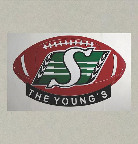 J71391 - 3D Football (Saskatchewan Roughriders)