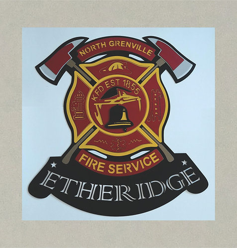 10327 Fire Service Award in 3D