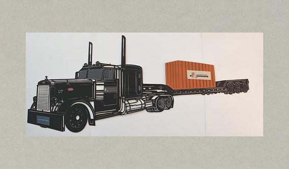 AT-J71399 Peterbilt Semi Truck in 3D
