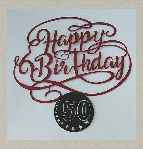 J71404 Happy Birthday in 3D