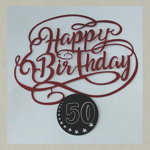 SH-J71404 Happy Birthday in 3D