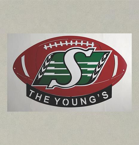 SP-J71391 3D Football (Saskatchewan Roug