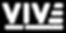 VIVE Full Logo 2018 - White (Smaller Bor
