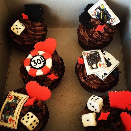 Casino themed cupcakes (12)