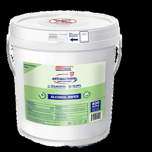 Sanitizing Alcohol Wipes 800ct Bucket Case