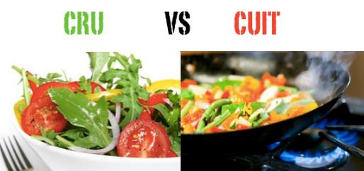 Aliments cuits vs aliments crus