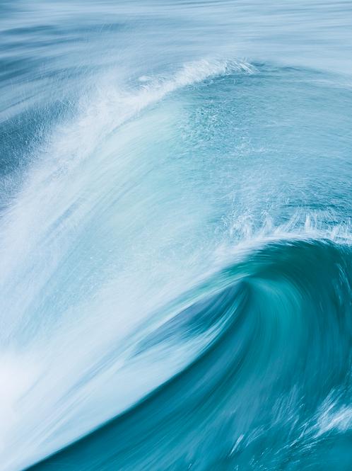 Blue Wave, Porthleven Print