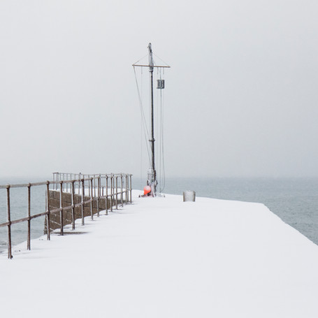 A White Pier