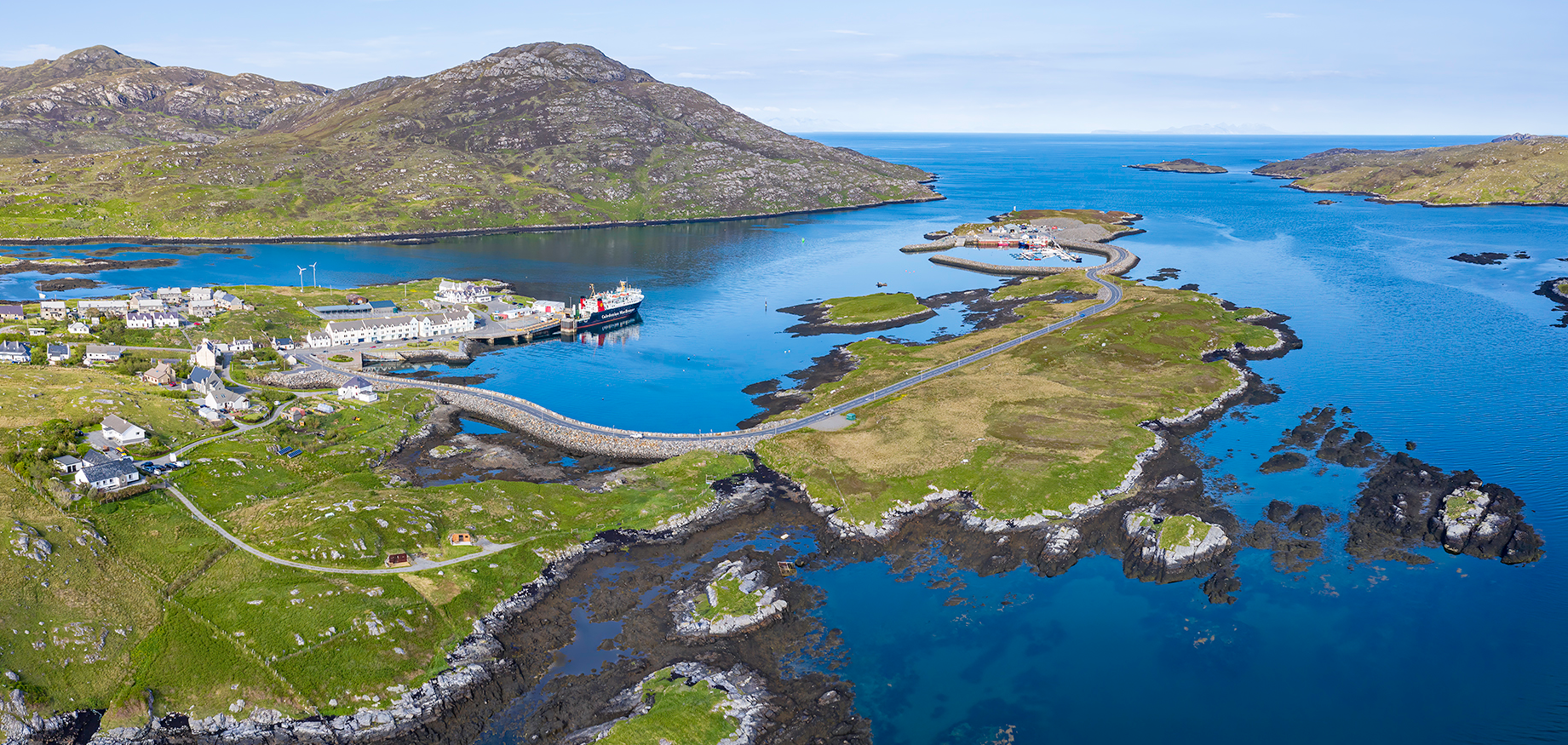 Aerial of Lochboisdale Harbour
