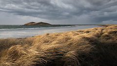 Island Storm clouds in the Isle of South Uist, Outer Hebrides, Scotland