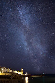 Porthleven at night with the Milky Way