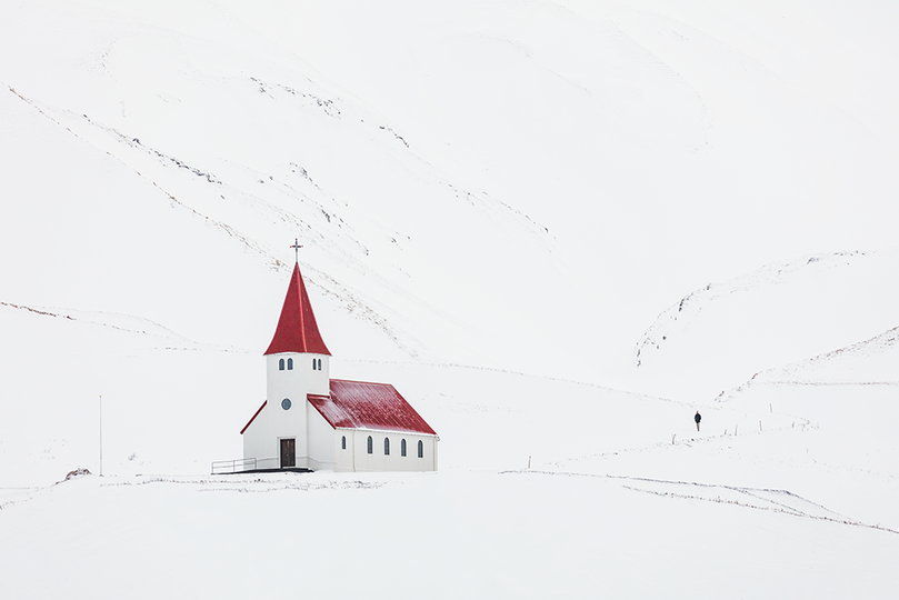 Walking to Church, South Iceland