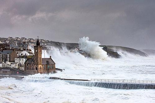 A Wave Awakening, Porthleven Storm Print