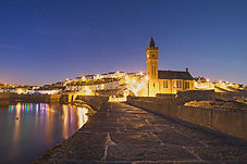 Porthleven at night