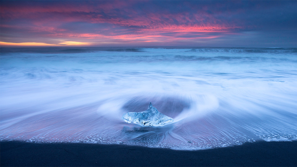 Alone At Sunrise, Iceland