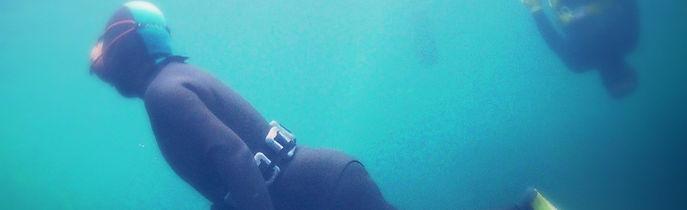 海女の撮影 水中映像