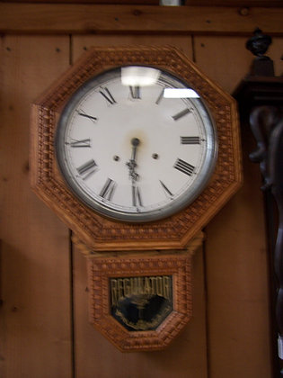 E. INGRAHAM REGULATOR WALL CLOCK