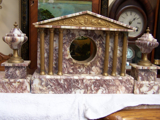 FRENCH REAL MARBLE CLOCK CASE