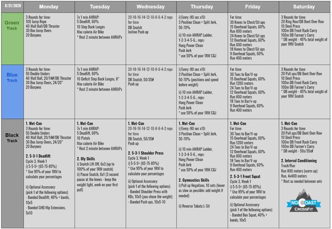 August 31st - September 5th Programming