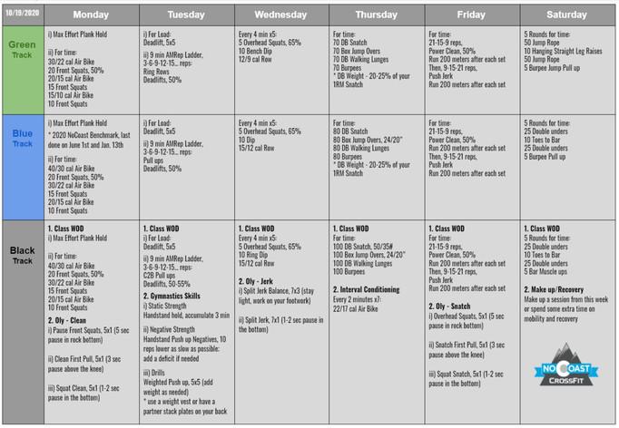 October 19th - 24th Programming