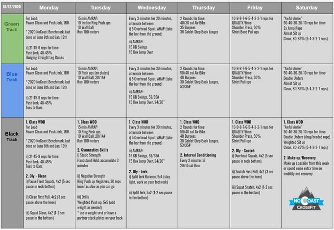 October 12th - 17th Programming