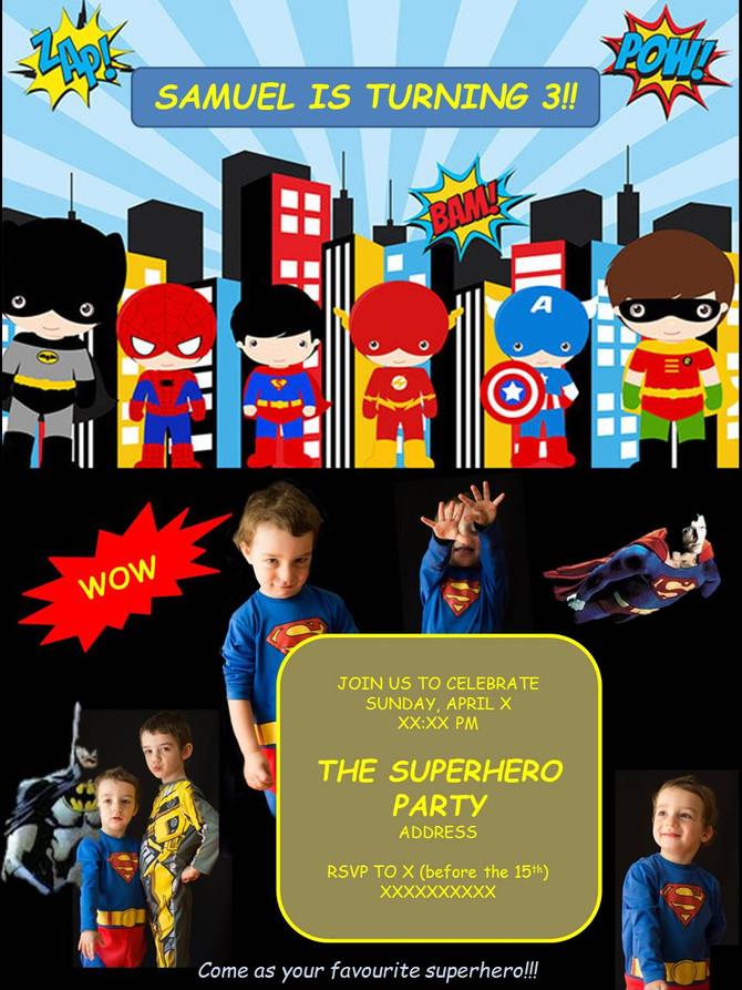 THE SUPERHERO PARTY