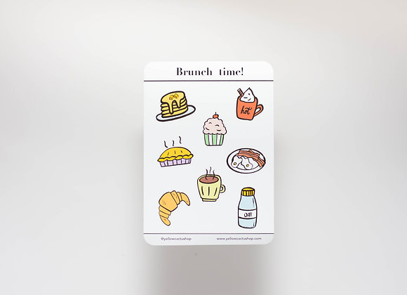 Pack Brunch Time! - x8 Sticker