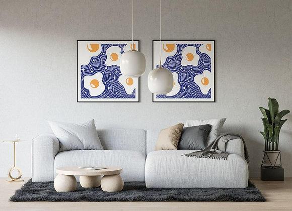 Space Eggs - Square Print