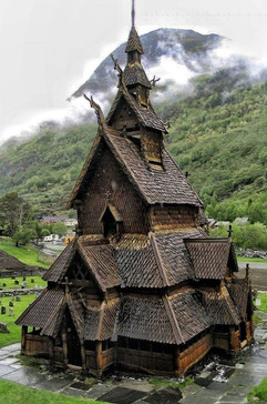 Grateful for churches around the world (this is a Norwegian church-few left)