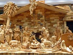 Nativity carvings for sale in Bethlehem.