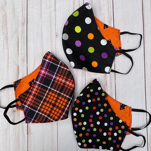Halloween Polka Dots and Plaid