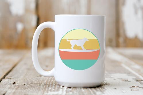 Surf Dog Retro Sunset Mug