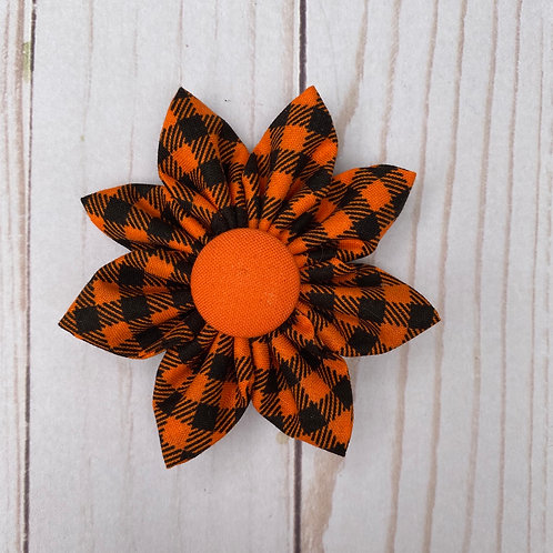 Orange & Black Checked Flower