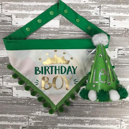The Birthday Boy Combo (bandana and hat)