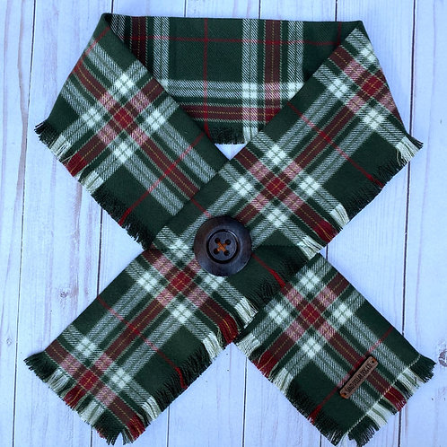 Evergreen Holiday Plaid Crossover Scarf