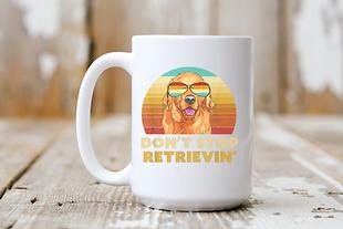 Don't Stop Retrievin' Sunglasses Mug.png