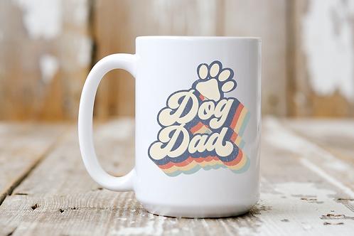 Retro Dog Dad Mug