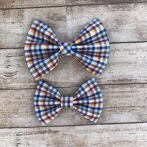 Purple Orange & Green Prepster Bow