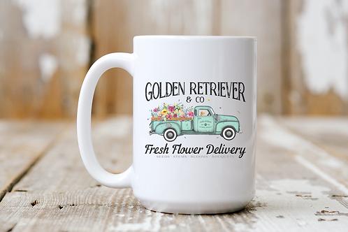 Golden Retriever Flower Delivery