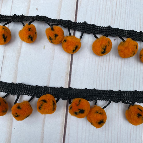 Add On -- PUMPKIN POM POMS