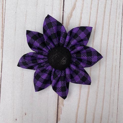 Purple & Black Checked Flower