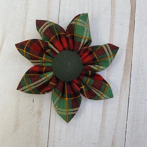 Christmas Plaid Flower