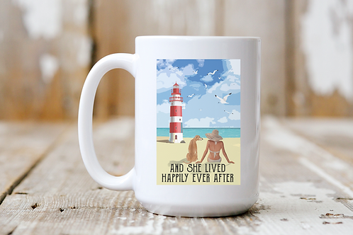 She Lived Happily Ever After (Lighthouse) Mug