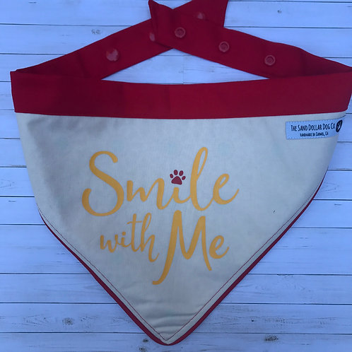 Smile With Me-- red piping