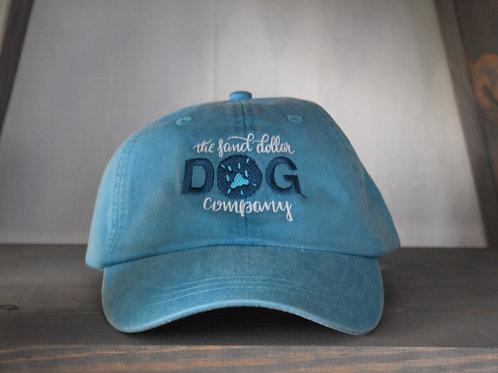 Sand Dollar Dog Company Hat - Caribbean Blue w/teal logo