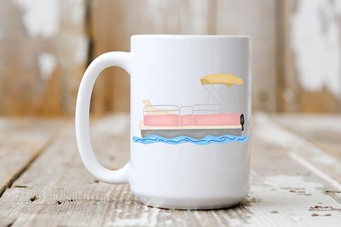 Pontoon Dog Mug (Pink)
