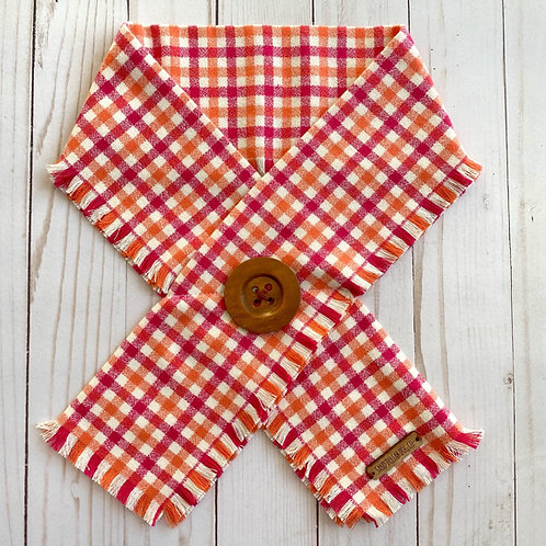 Strawberry Plaid Crossover Scarf