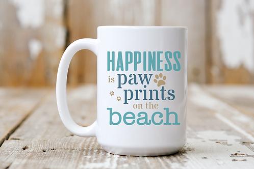 Paw Prints on the Beach Mug