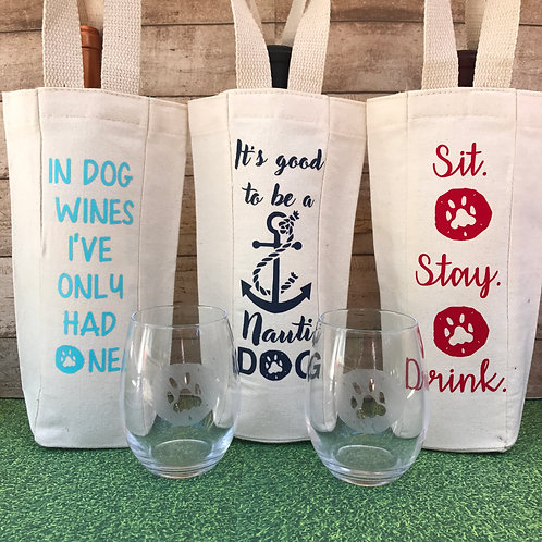 Canvas Wine Bags (Single or Double)