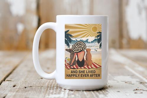 She Lived Happily Ever After (Beach) Mug